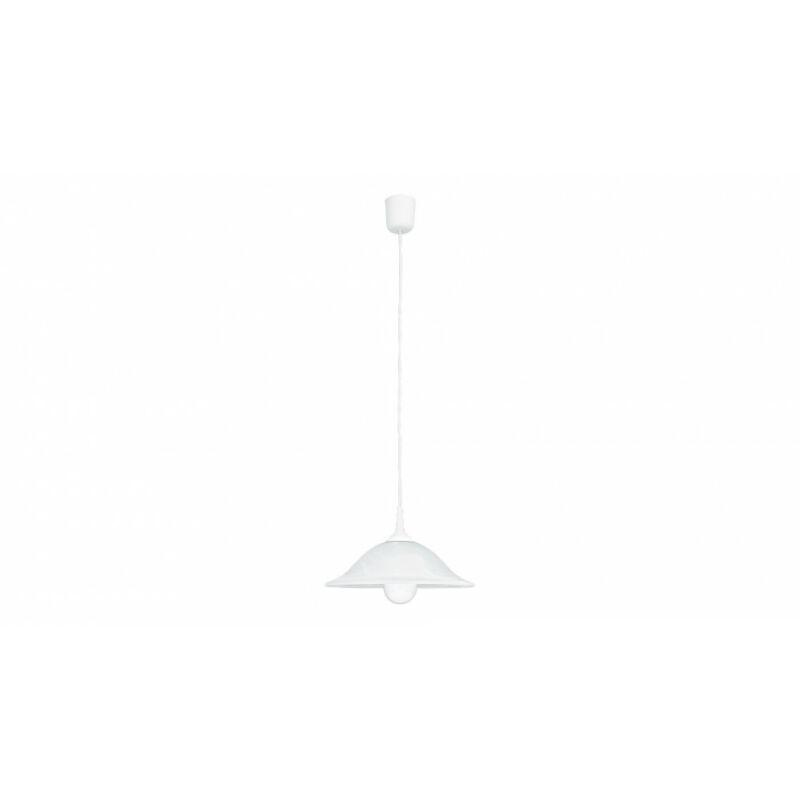 Rábalux Alabastro 3905 egyágú függeszték fehér alabástrom üveg műanyag E27 1x MAX 60 E27 1 db IP20