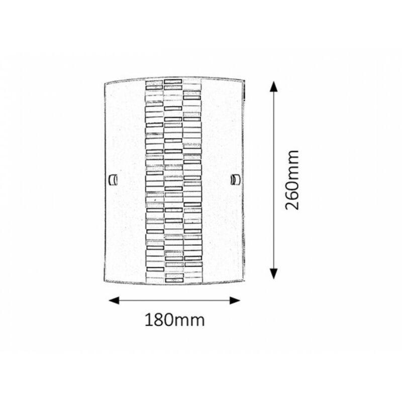 Rábalux Domino 3931 fali lámpa opál üveg fém E27 1x MAX 60 E27 1 db IP20