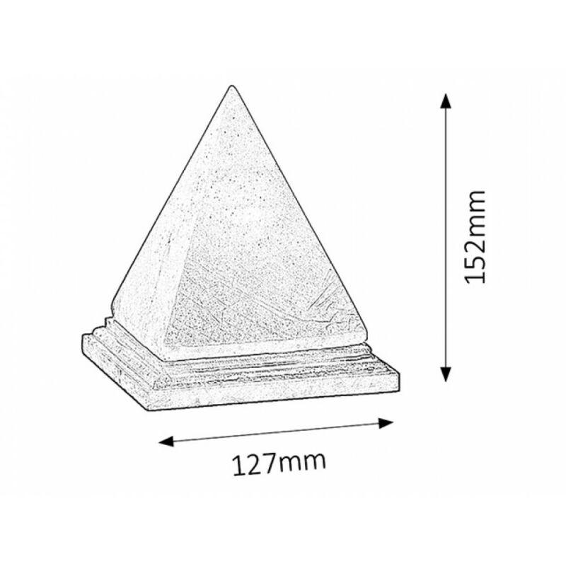 Rábalux Vesuvius 4096 sólámpa narancs kősó/ fa E14 1x MAX 15 E14 1 db 90 lm 2700 K IP20 E