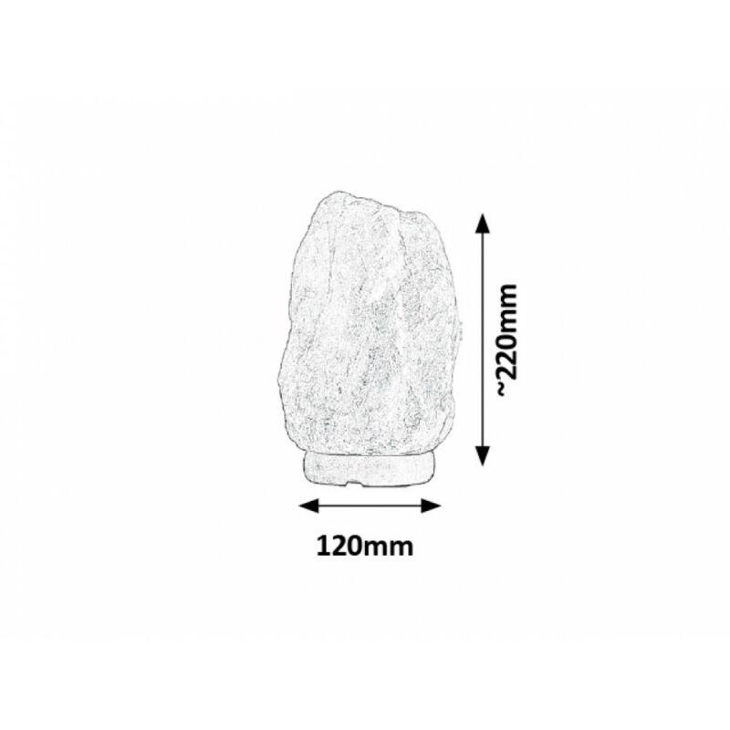 Rábalux Rock 4127 sólámpa narancs kősó/ fa E14 1x MAX 15 E14 1 db 90 lm 2700 K IP20 E