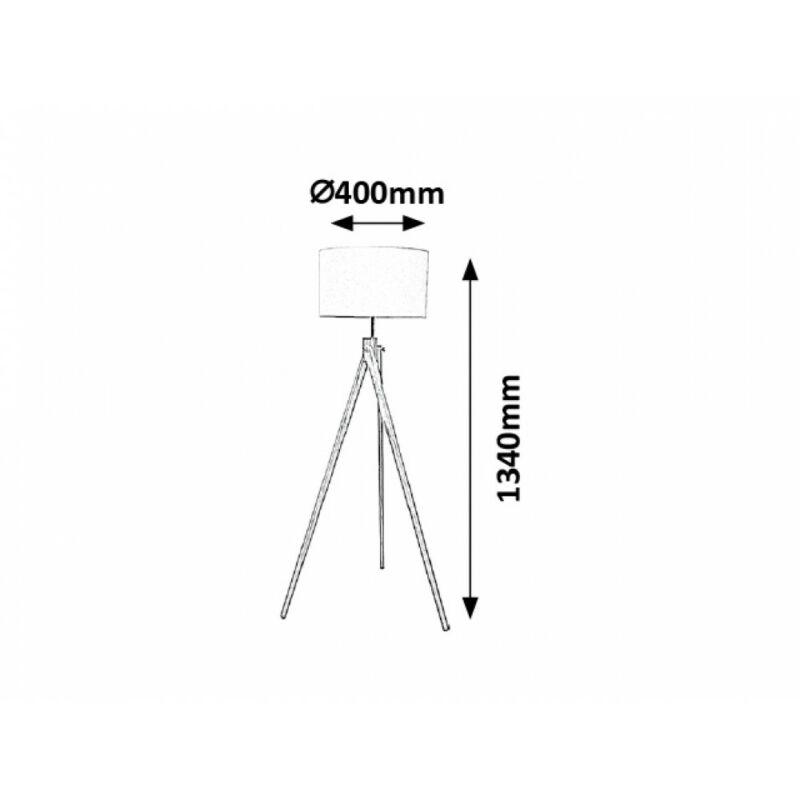 Rábalux Soren 4189 állólámpa fehér fa E27 1x MAX 60 E27 1 db IP20