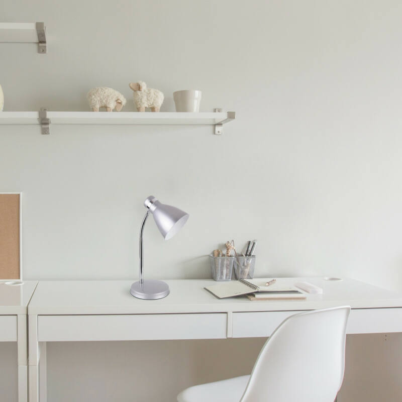Rábalux Patric 4206 íróasztal lámpa ezüst fém E14 1x MAX 40 E14 1 db IP20