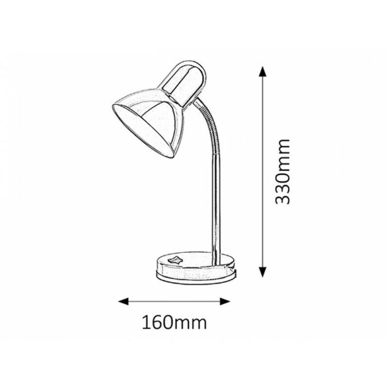 Rábalux Clark 4255 íróasztal lámpa króm fém E27 1x MAX 40 E27 1 db IP20