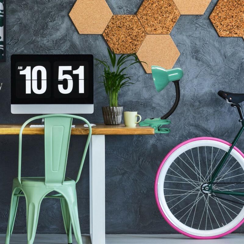 Rábalux Dennis 4257 csiptetős asztali lámpa zöld fém/ műanyag E27 1x MAX 40 E27 1 db IP20