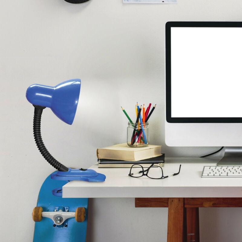 Rábalux Dennis 4260 csiptetős asztali lámpa kék fém/ műanyag E27 1x MAX 40 E27 1 db IP20