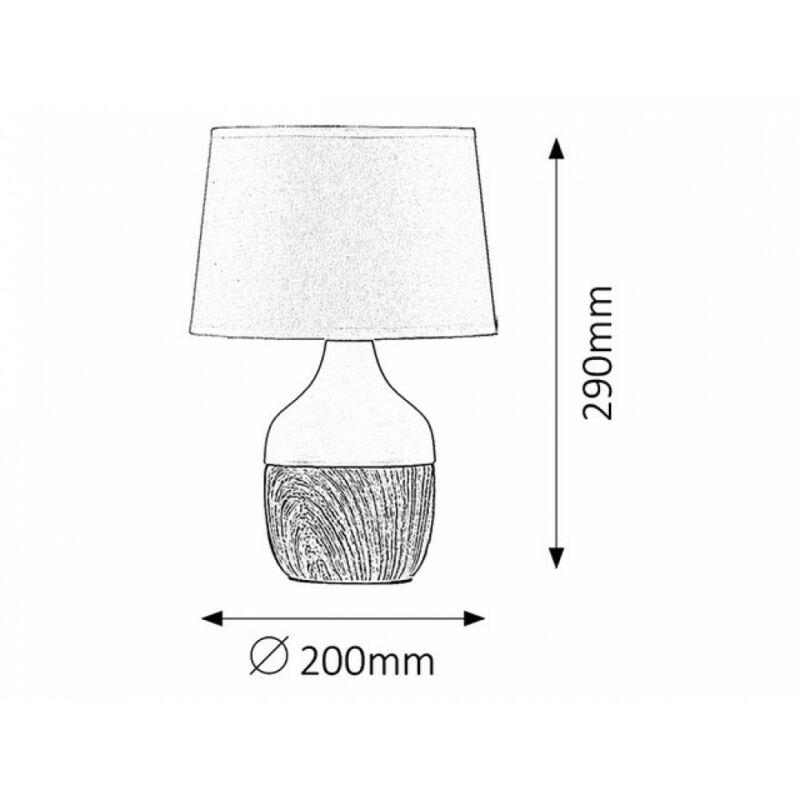 Rábalux Yvette 4370 éjjeli asztali lámpa bézs kerámia E14 1x MAX 40 E14 1 db IP20