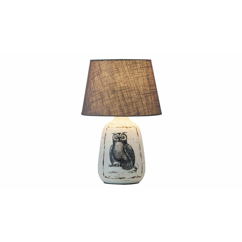 Rábalux Dora 4373 éjjeli asztali lámpa fehér kerámia E27 1x MAX 40 E27 1 db IP20