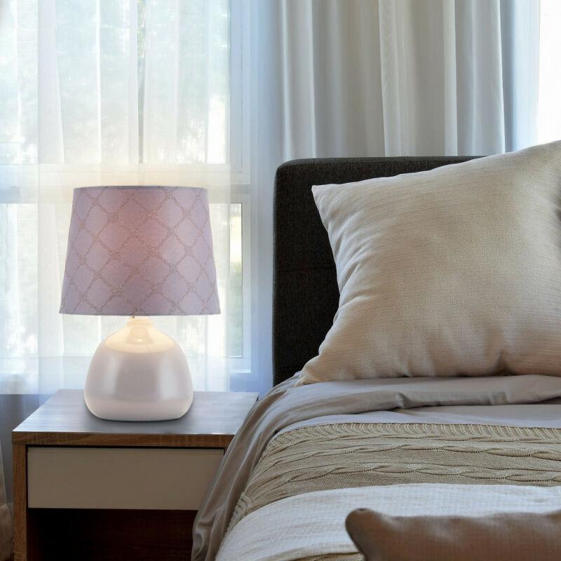 Rábalux Ellie 4381 éjjeli asztali lámpa szürke kerámia E14 1x MAX 40 E14 1 db IP20