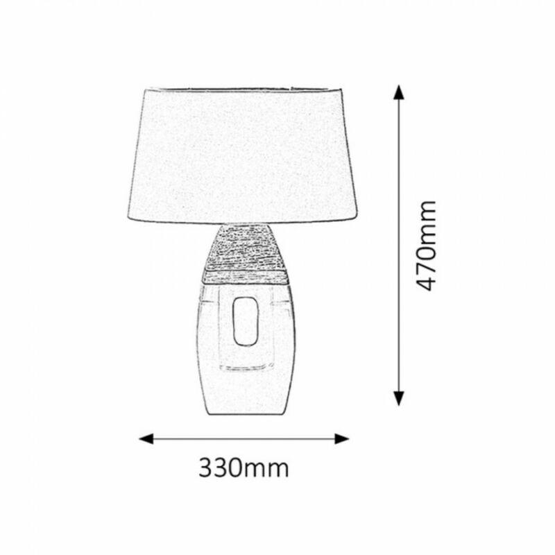 Rábalux Leah 4387 éjjeli asztali lámpa barna kerámia E27 1x MAX 40W E27 1 db IP20