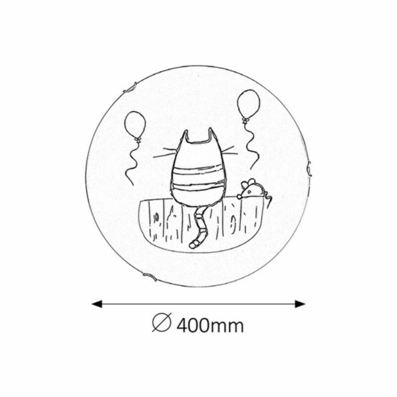 Rábalux Cathy 4558 fali gyereklámpa többszínű fém E27 2x MAX 60 E27 2 db IP20