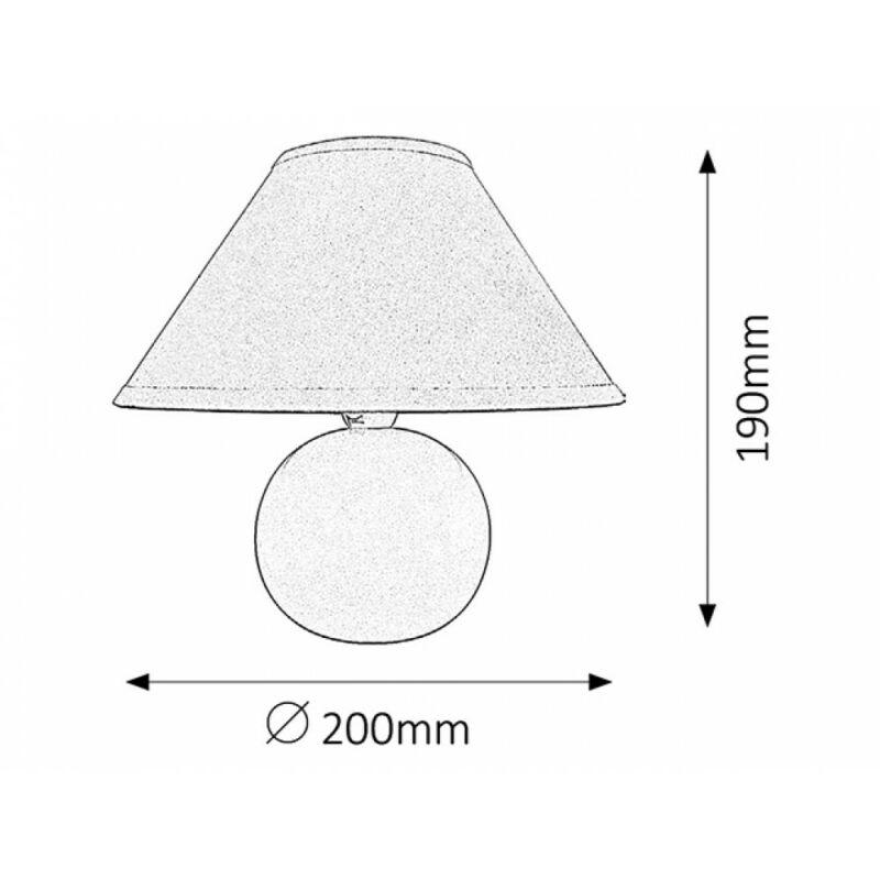 Rábalux Ariel 4906 éjjeli asztali lámpa cseresznye kerámia E14 1x MAX 40 E14 1 db IP20