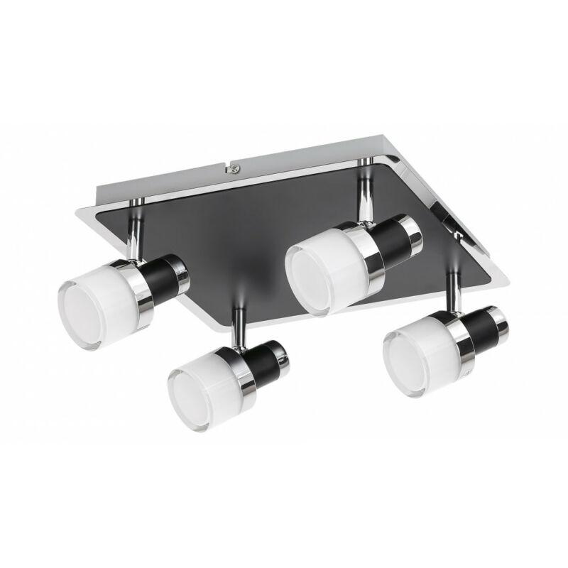 Rábalux Harold 5024 fürdőszoba mennyezeti lámpa fekete fém LED 20 1600 lm 4000 K IP44 A