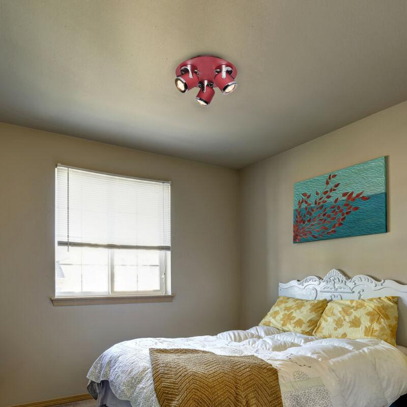 Rábalux April 5039 mennyezeti spot lámpa piros fém GU10 3X MAX 5 GU10 3 db IP20