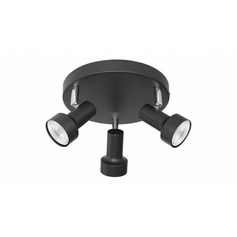 Rábalux Konrad 5324 mennyezeti spot lámpa fekete fém GU10 3x MAX 50 GU10 3 db IP20