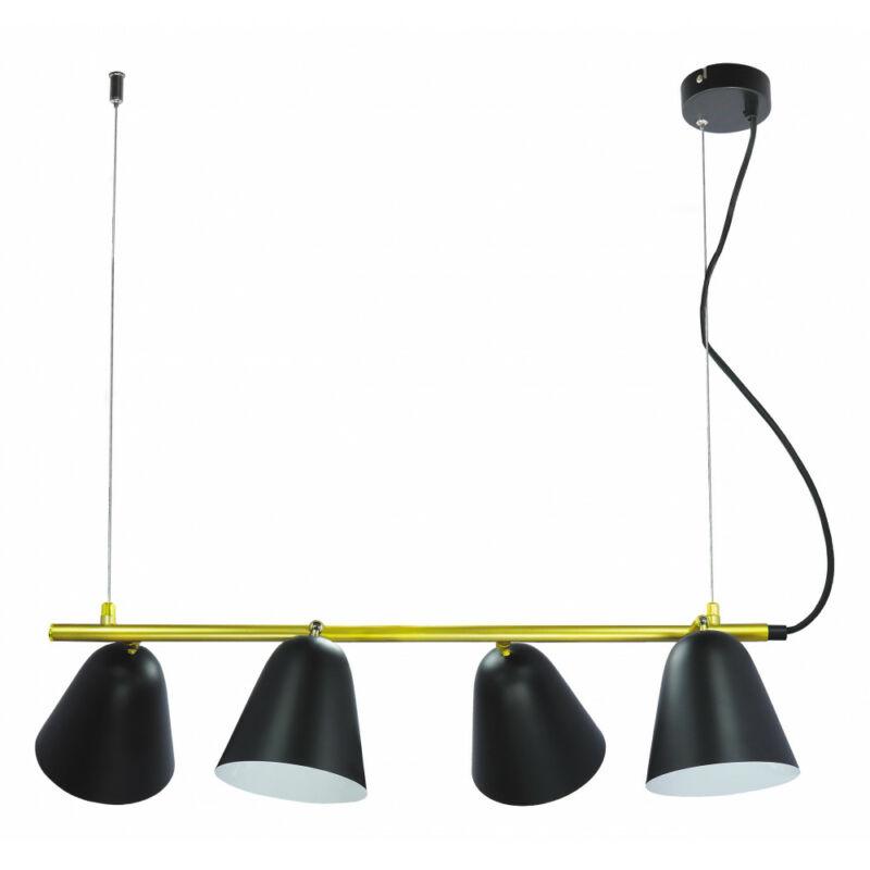 Rábalux Alder 5377 étkező lámpa fekete fém E14 4x MAX 40 E14 4 db IP20