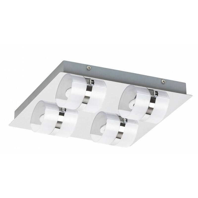 Rábalux Tony 5492 kültéri mennyezeti led lámpa króm fém LED 4x 5 1460 lm 4000 K IP44 A+