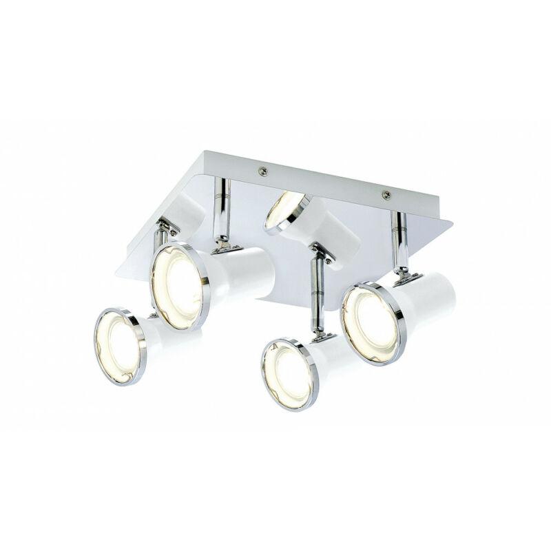 Rábalux Steve 5500 fürdőszoba mennyezeti lámpa fehér fém GU10 4x MAX 15 GU10 4 db 1720 lm 4000 K IP44 A+