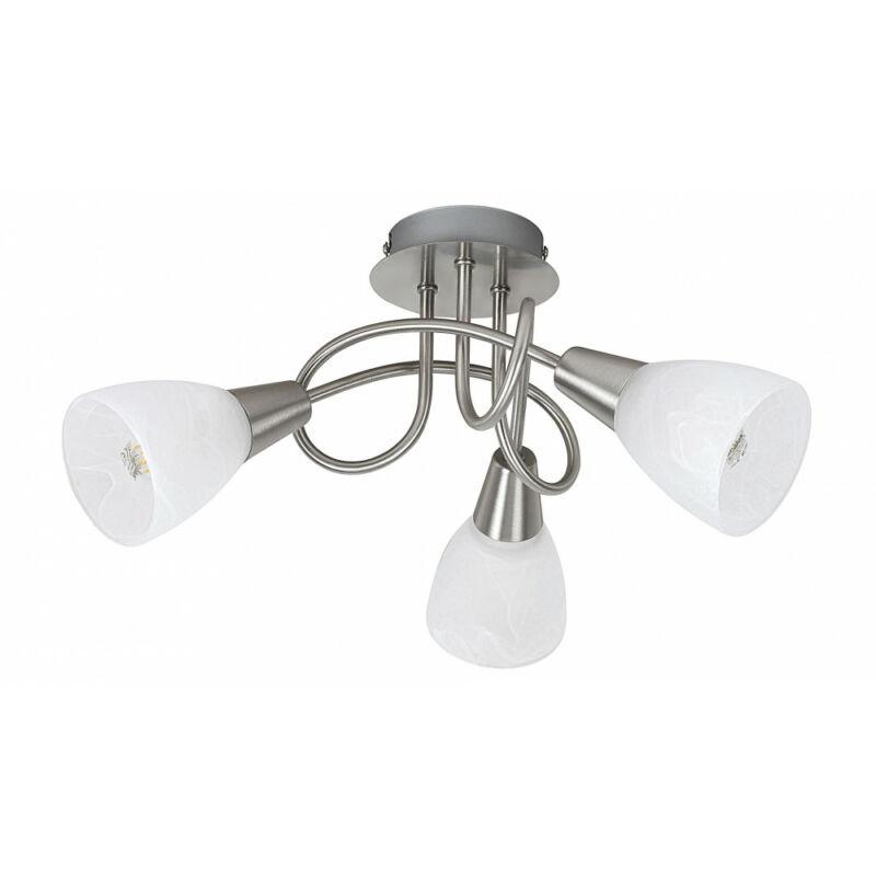 Rábalux Jenna 5532 mennyezeti lámpa  szatin króm   fém   E14 3x MAX 40W   E14   3 db  IP20