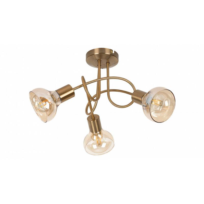 Rábalux Holly 5548 mennyezeti lámpa  antik arany   fém   E14 3x MAX 40W   E14   3 db  IP20