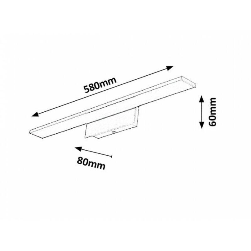 Rábalux Louise 5738 tükör világítás szatin króm fém LED 10 700 lm 3000 K IP20 A+