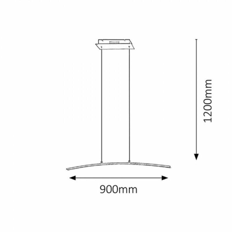 Rábalux Addison 5759 led függeszték súrolt alumínium fém LED 21 1800 lm 3000 K IP20 A+