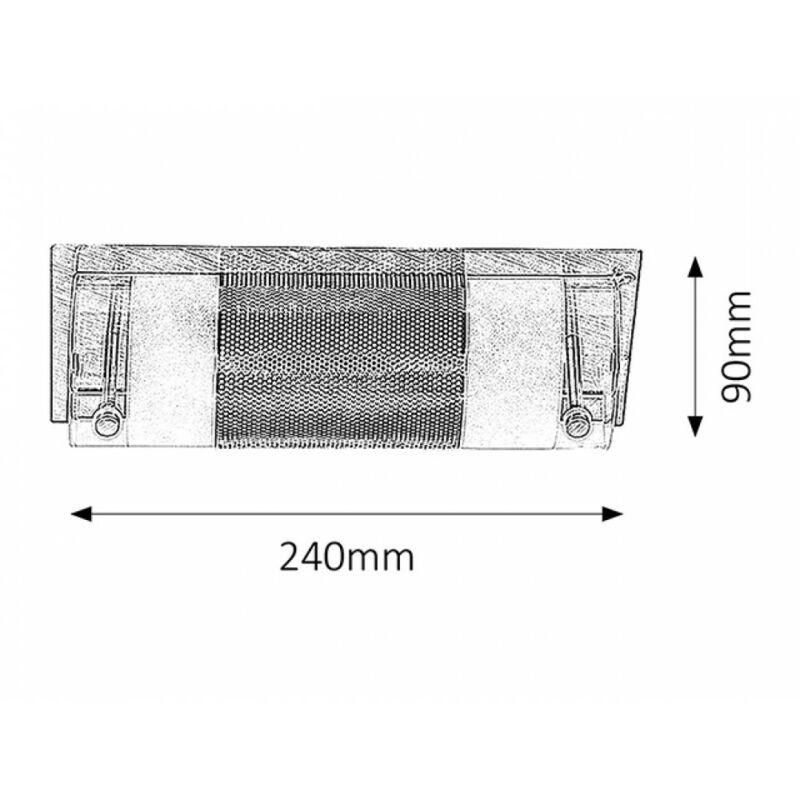 Rábalux Periodic 5800 fali lámpa króm fém E14 1x MAX 40 E14 1 db IP20
