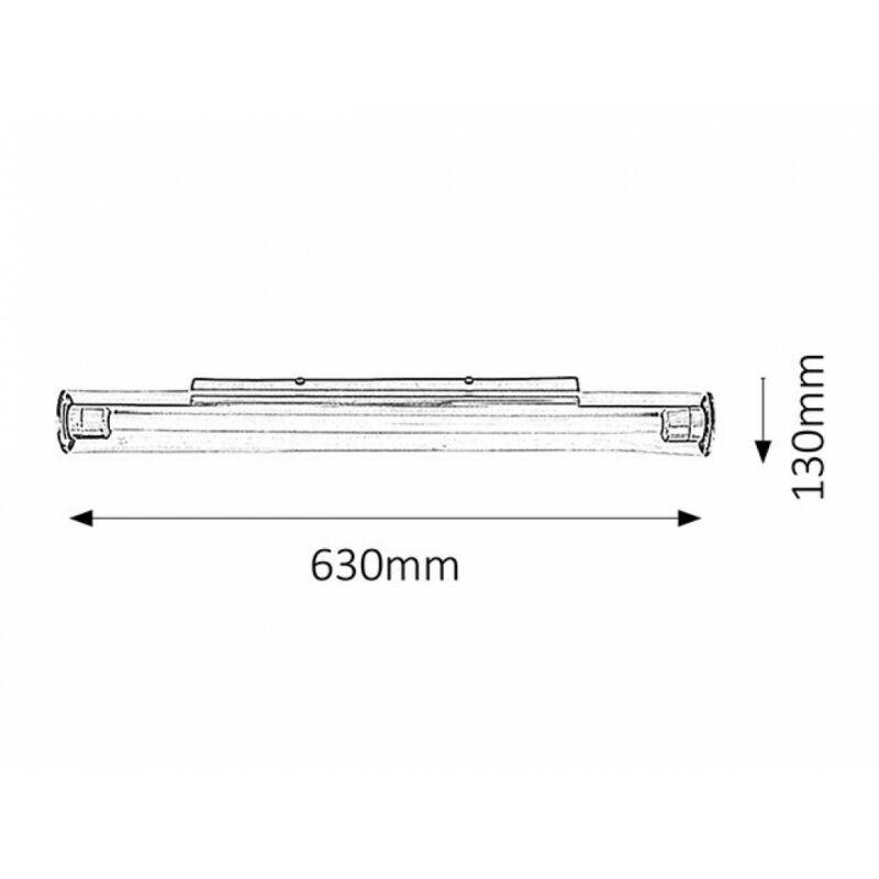 Rábalux Paula 5849 fürdőszoba fali lámpa króm fém/ műanyag G5 T5 1x MAX 14 G5 1200 lm 4000 K IP20 A+