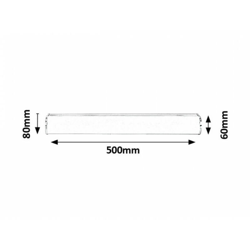 Rábalux Danton 5892 fürdőszoba fali lámpa króm fém LED 12 1080 lm 4000 K IP44 A+