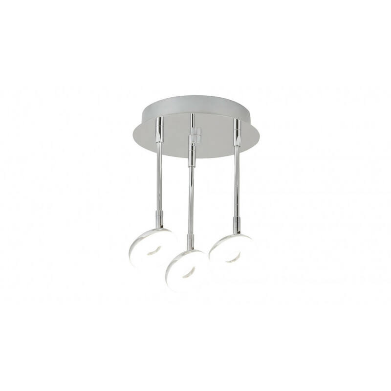 Rábalux Beata 5893 fürdőszoba mennyezeti lámpa króm fém LED 3x 5 1530 lm 4000 K IP44 A+