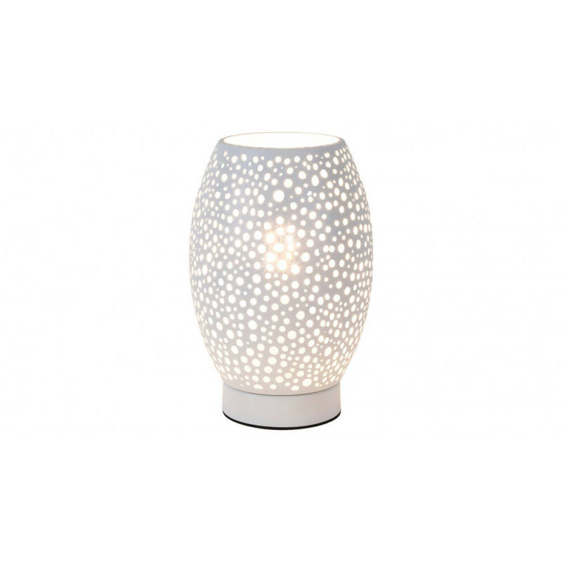Rábalux Gerda 5913 éjjeli asztali lámpa fehér fém E27 1x MAX 15 E27 1 db IP20