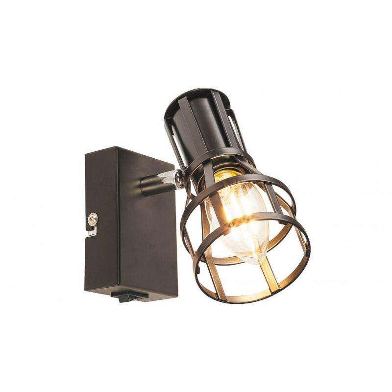 Rábalux Aria 5958 fali lámpa kapcsolóval matt fekete fém E14 1x MAX 15 E14 1 db IP20