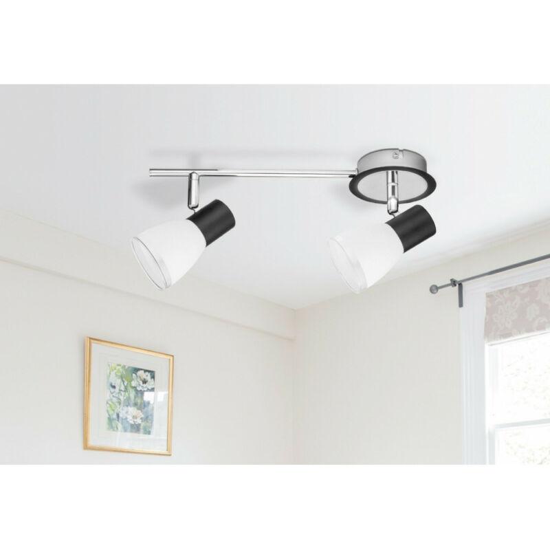 Rábalux Ati 5977 mennyezeti lámpa fekete fém E14 2x MAX 40 E14 2 db IP20