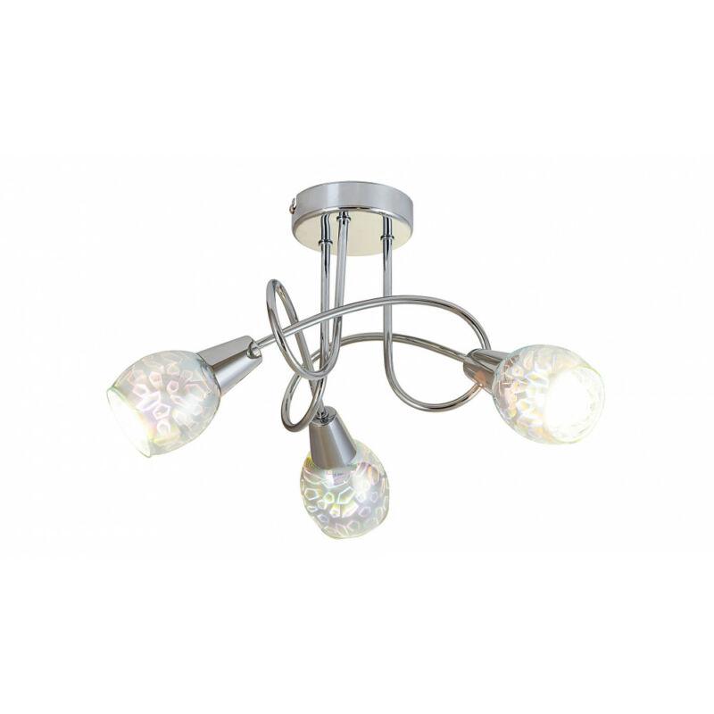Rábalux Porto 6009 mennyezeti lámpa króm fém E14 3x MAX 40 E14 3 db IP20
