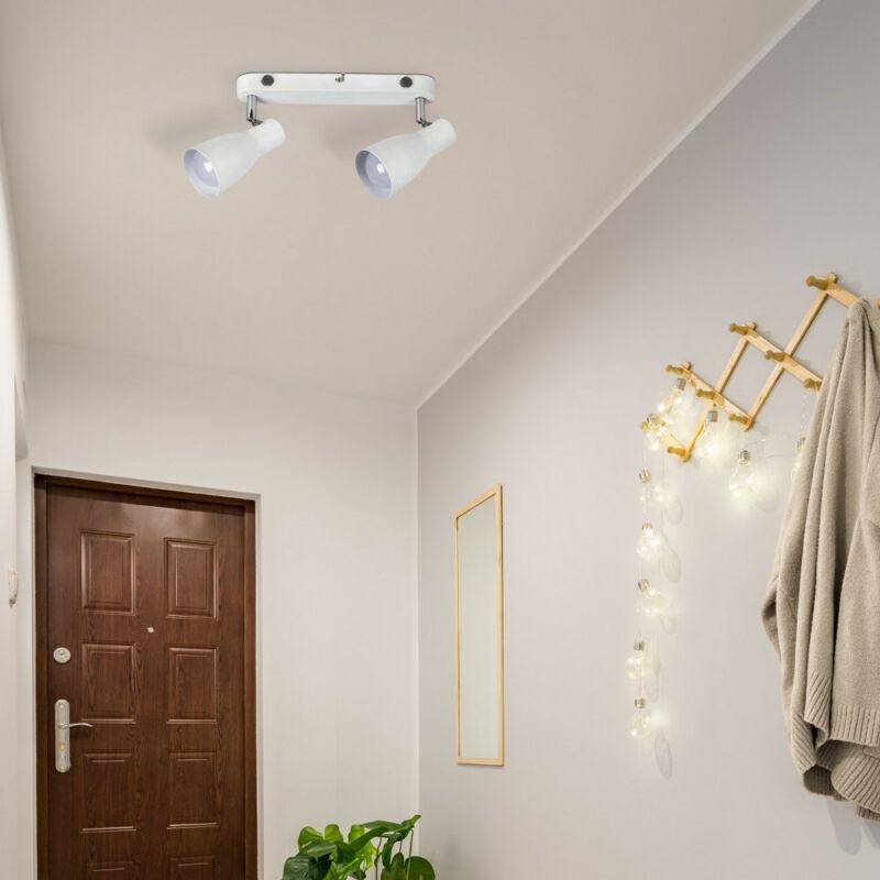 Rábalux Ebony 6027 fali lámpa kapcsolóval fehér fém E27 2x MAX 20 E27 2 db IP20