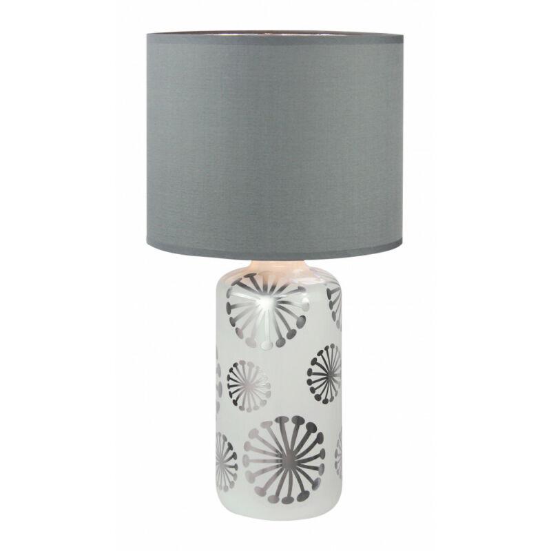 Rábalux Ginger 6029 éjjeli asztali lámpa ezüst kerámia E27 1x MAX 60 E27 1 db IP20