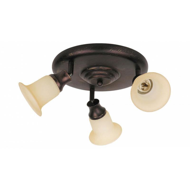 Rábalux Claire 6067 mennyezeti lámpa barna fém E14 3x MAX 40 E14 3 db IP20
