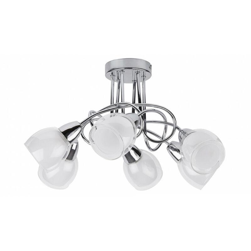 Rábalux Dave 6085 mennyezeti lámpa króm fém E14 6x MAX 40 E14 6 db IP20