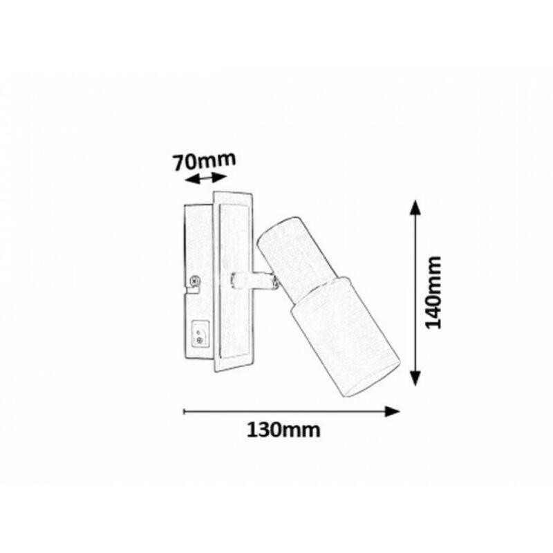 Rábalux Logan 6096 fali lámpa kapcsolóval króm fém E14 1x MAX 40 E14 1 db IP20