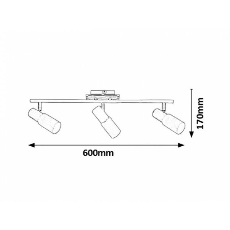 Rábalux Logan 6098 mennyezeti lámpa króm fém E14 3x MAX 40 E14 3 db IP20