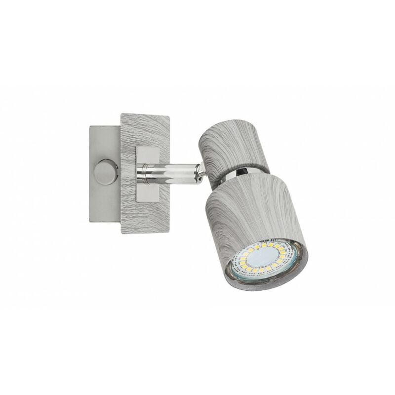 Rábalux Merkur 6125 fali spotlámpa ezüst tölgy fém GU10 1x MAX 50 GU10 1 db IP20