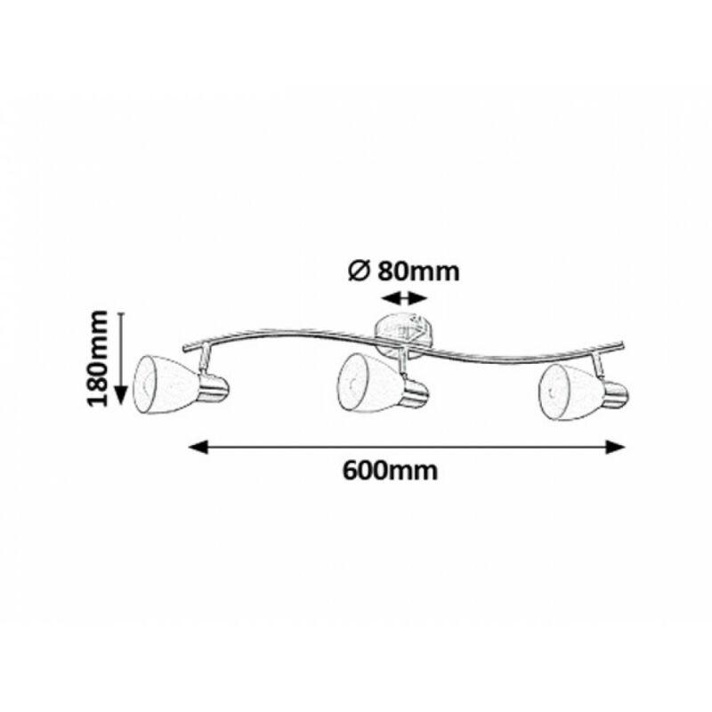 Rábalux Soma 6308 mennyezeti lámpa  bronz   fém   E14 3x MAX 40W   E14   3 db  IP20