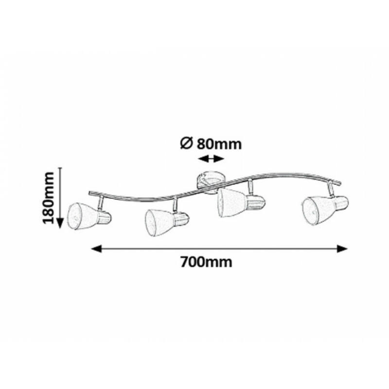 Rábalux Soma 6309 mennyezeti lámpa bronz fém E14 4x MAX 40 E14 4 db IP20