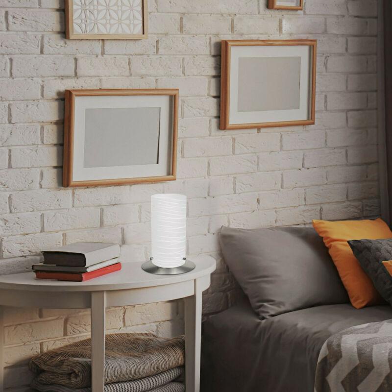 Rábalux Aurel 6339 asztali lámpa szatin króm fém E27 1x MAX 60 E27 1 db IP20