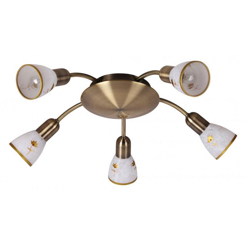 Rábalux Art flower 6360 mennyezeti lámpa  bronz   fém   E14 5x MAX 40W   E14   5 db  IP20