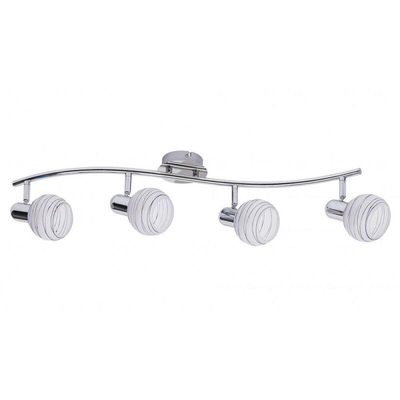 Rábalux Aurel lilac 6368 mennyezeti lámpa  króm   fém   E14 4x MAX 40W   IP20