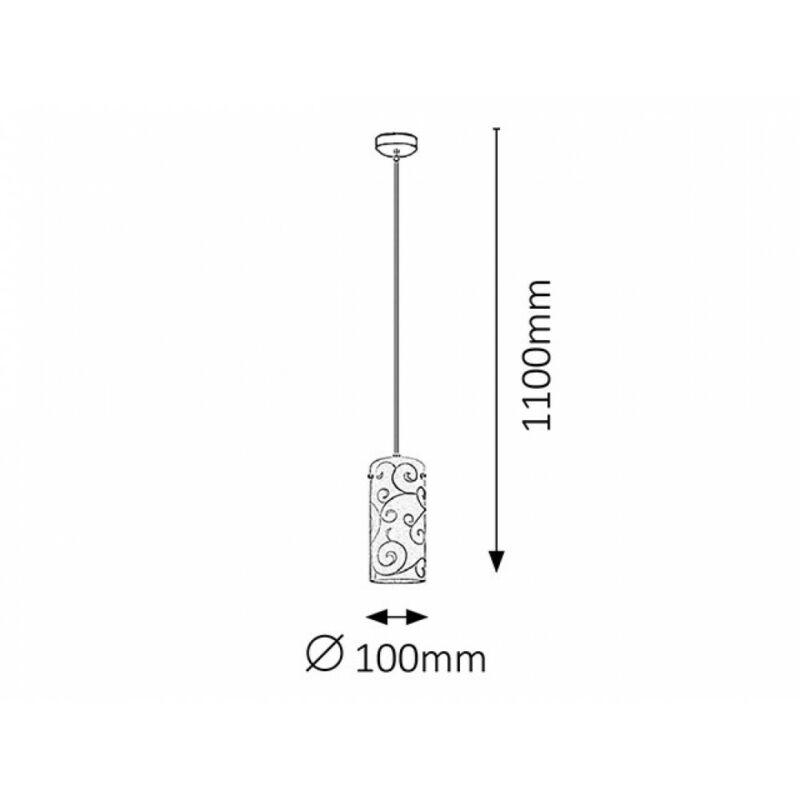 Rábalux Harmony Lux 6391 egyágú függeszték szatin króm fém E27 1x MAX 60 E27 1 db IP20