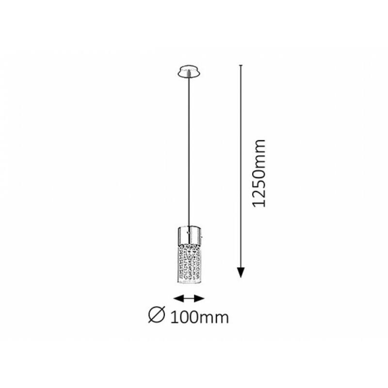 Rábalux Waterfall 6446 egyágú függeszték króm fém E14 1x MAX 40 E14 1 db IP20