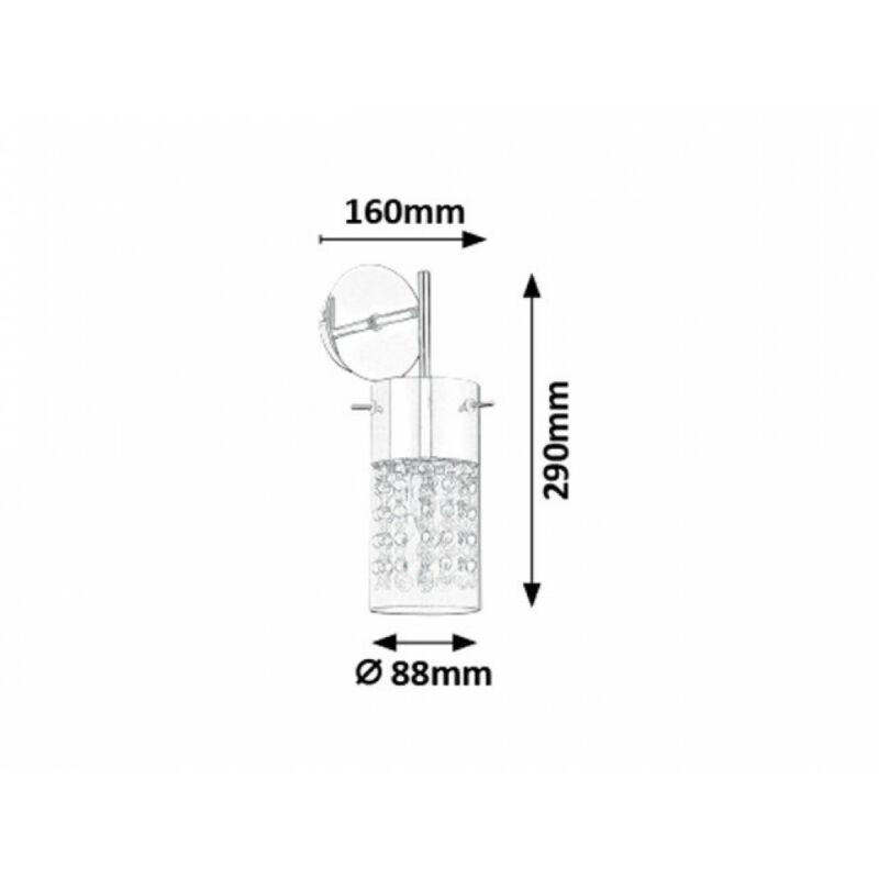 Rábalux Waterfall 6449 falikar króm fém E14 1x MAX 40 E14 1 db IP20