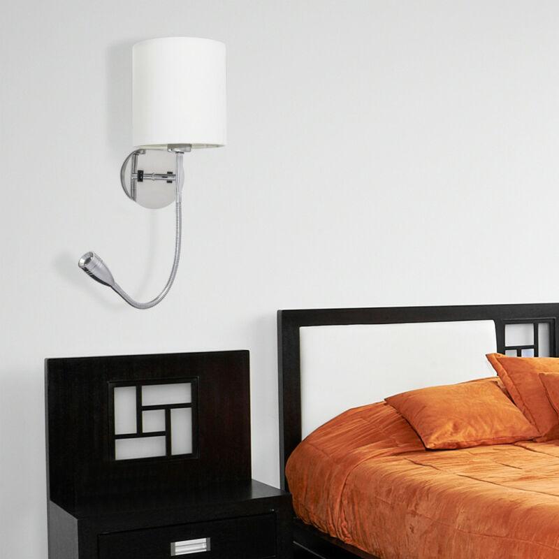 Rábalux Larkin 6529 fali olvasólámpa króm fém E27 1x MAX 40 + LED 3 E27 1 db 205 lm 2800 K IP20 A+