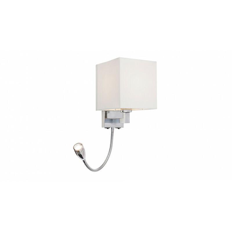 Rábalux Larkin 6530 fali olvasólámpa króm fém E27 1x MAX 40 + LED 3 E27 1 db 205 lm 2800 K IP20 A+